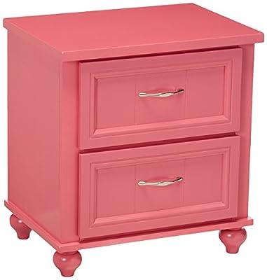 247SHOPATHOME IDF-7322PK-N Childrens, nightstand, Pink