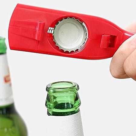 Botella de bebida creativa abrelatas de la botella de la botella del lanzador de la botella del lanzador de la barra de la pistola portátil de la barra de la barra de la cerveza en forma de la tapa de