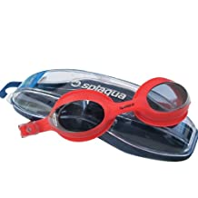 Splaqua Red Swim Goggle Tinted with Optical Corrective Lenses, All Diopters
