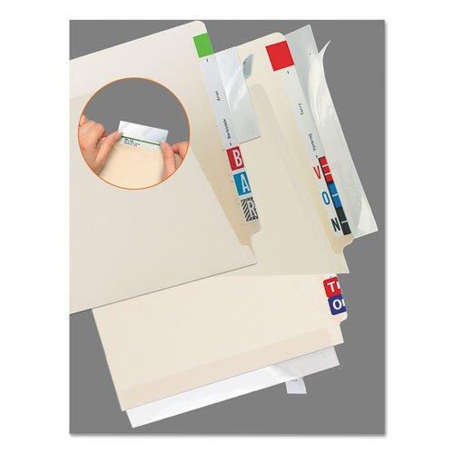 Tabbies Ordner Edge Protector – 100 Displayschutzfolie von 11quot; Länge x 2quot; Breite – selbstklebend, transparent, 100 Pack