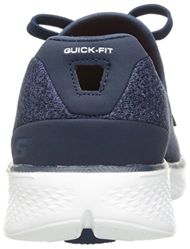 Skechers Go Walk 4 All Day Comfort Trainers Navy White Navy/White