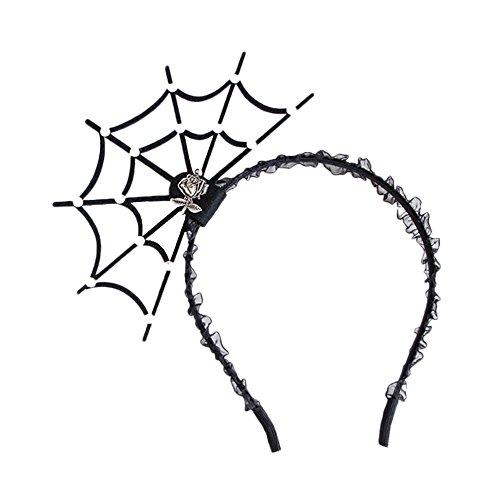 Newbee Halloween 2PCS Headbands Spider Net Hair Hoop Headpiece for Kids Lady Girl - Fancy Costume Party Cosplay Makeup Décor (Spider -