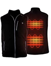 PROSmart Heated Vest Polar Fleece Lightweight Heated Gilet with USB Bettery Pack, Unisex