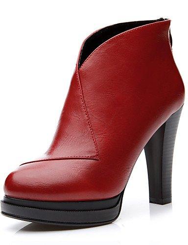 Rojo Cn38 tacones Cn39 Ggx us8 De Eu38 tacones Uk6 5 Red semicuero Noche Cono Red Mujer us7 Zapatos tacón vestido Fiesta Y 5 Uk5 Eu39 negro XwFx4wOq