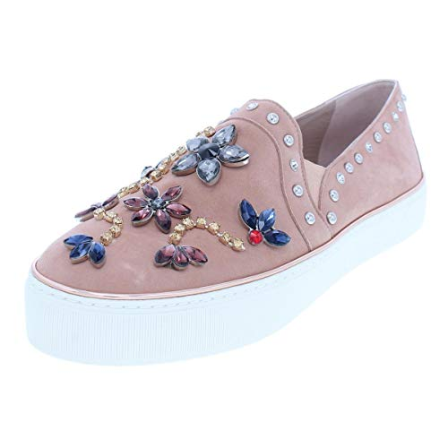 (Stuart Weitzman Womens Detail Suede Loafer Casual Shoes Beige 7.5 Medium (B,M))