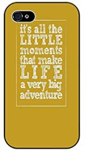 iPhone 6 It's all the little moments that make life a very big adventure - Adventurer Black plastic case - (Row 11-C)