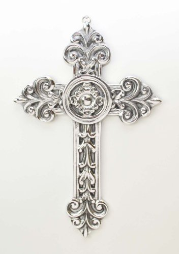 Polished Aluminum Wall Cross, W conches-12.5h