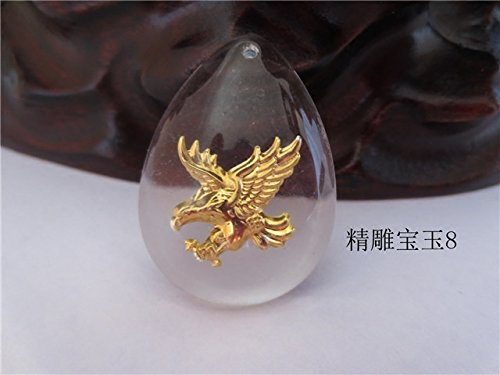 usongs Inlaid crystal necklace pendant red string couple grand plans for eagle necklace pendant jewelry men and women girls couple gift