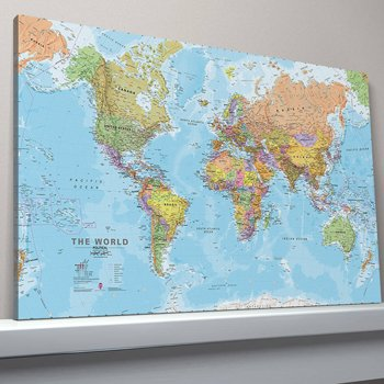 Canvas World Map Large Canvas Amazoncouk Kitchen Home - World map canvas