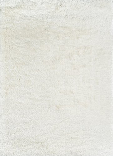 """Momeni Rugs Enchanted Shag Collection Traditional Area Rug, 7'6"""" x 9'6"""", White"""