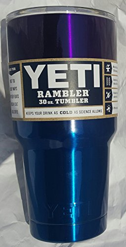 Yeti Rambler 30 Oz, Stainless Steel, Powder-coated, Custom Colors (Mardi Gras Purple/Caribbean Blue Fusion)
