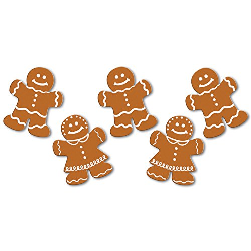 Beistle S22268AZ6, 60 Piece Mini Gingerbread Cutouts, -
