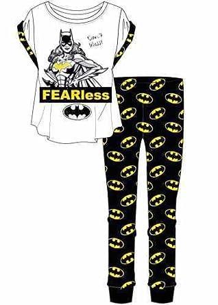 Womens Batwoman Fearless Pyjama Set Nightwear Pjs Winter Warm Lingerie  Ladies Gift Batman Comic Tv Movie  Amazon.co.uk  Clothing 91b69f09b