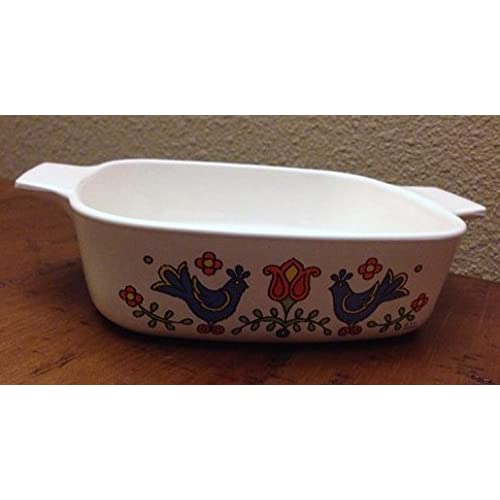 Vintage Corning Ware Country Festival 1 Quart Casserole Dish A-1-B Without a Lid
