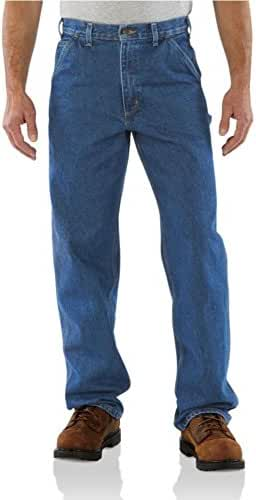 Carhartt Men's Original Fit Signature Denim Dungaree