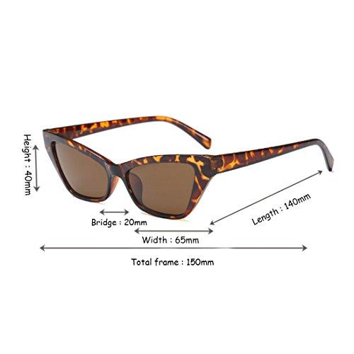 Yefree retro de de sol Patrón Gafas Leopardo estilo vintage de marco de Gafas Gafas pequeño sol de sol elegantes rvZU5rWF