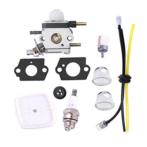 Carburetor for Zama Mantis Tiller Parts C1U-K54A 7222 7225 SV-5C/2 Engine with Air Filter Repower Kit - Podoy C1U-K82