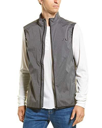 J.Lindeberg Men's Windproof Vest, Dark Grey Melange, X-Large ()