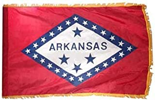 product image for Valley Forge Arkansas 3x5ft Nylon Flag with Indoor Pole Hem and Fringe