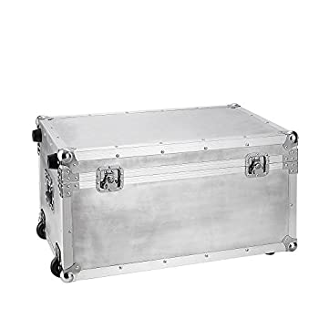 DormCo VIN Steel Plated Trunks - Argent Destination (Silver)