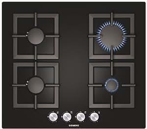 Siemens EP616PB21E Integrado Gas Negro hobs - Placa (Integrado, Gas hob, Negro, 220 - 240 V, 50/60 Hz, 560 x 480 x 45 mm)