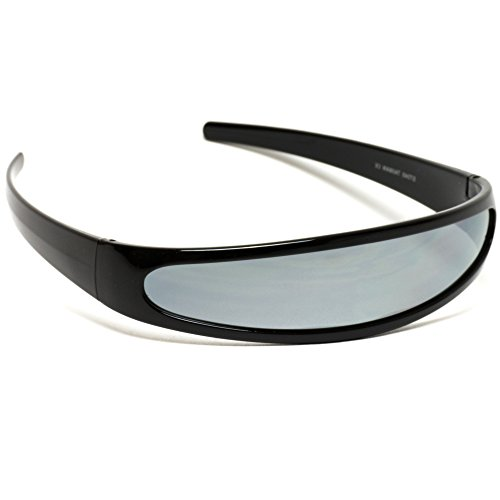 5abe151136 Jual Futuristic Narrow Cyclops Color Mirrored Lens Visor Sunglasses ...
