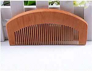 [W750] Peach Wooden Comb Popular Natural Health Care Hair Retro Comb