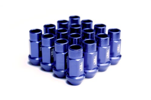 Blox Racing BXAC-00104-SSBL Street Series Blue 12 x 1.5mm Thread Size Forged Lug Nut, (Set of (Blox Lug Nuts)