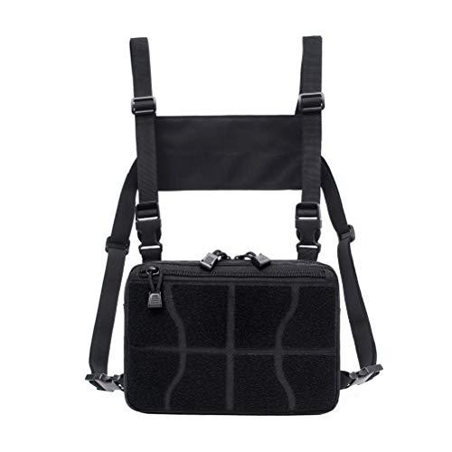 TENDYCOCO Multipurpose Daypack Hands Free Harness Bag Universal Chest Bag (Black)