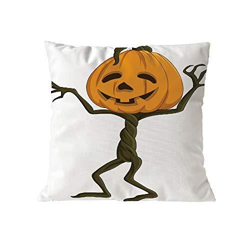 Halloween Pillow Case Pgojuni Throw Pillow Cover Cushion Polyester Cover Pillow Case Home Decor 1pc (45cm X 45cm) (E) by Pgojuni_Pillowcases (Image #1)