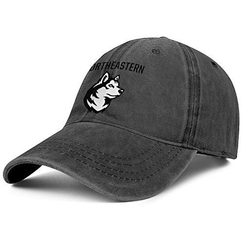 Unisex Northeastern-Huskies- Baseball-Cap Hat - Classic Adjustable Sports Cowboy Hat (Northeastern University Hat)