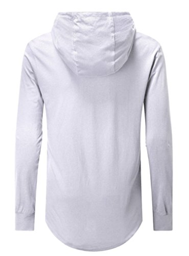 2 Homme long Aiyino Shirt Sleeve white SfBBwAEn