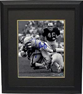 Athlon CTBL-BB15952 Joe Klecko Signed New York Jets Photo Custom Framed B&W Sacking Jim Plunkett - New York Sack Exchange - Steiner Hologram - 8 x 10