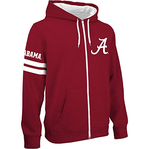 Alabama Crimson Tide Zip Up Hooded Sweatshirt - XL (Alabama Crimson Tide Applique)