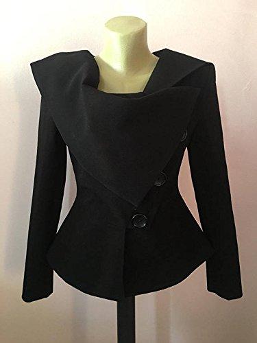 Black Womens Jacket, Punk Jacket, Avant Garde Jacket, Wool Blazer , Cashmere Jacket, Flared Jacket, Asymmetrical Coat, Tailored Jacket