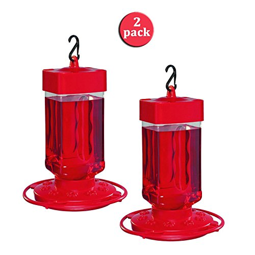 First Nature 3055 32-Ounce Hummingbird Feeder (Set of 2) ()