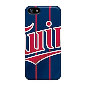 Durable Hard Phone Cases For Iphone 5/5s With Provide Private Custom Colorful Minnesota Twins Pattern IanJoeyPatricia
