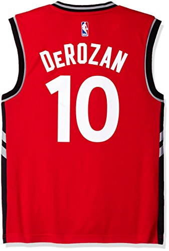 NBA Men's Toronto Raptors DeMar DeRozan Replica Player Stretch Jersey, Large, Red