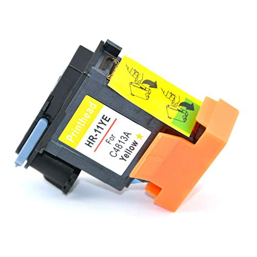 1 Pack Yellow for HP 11 C4813A Printhead Replacement 11 Printhead Inkjet1000 1100 2230 2280 2280tn 2300 2300dtn 2600 2600dt 1100dtn ()