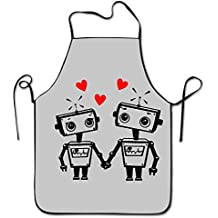 Women's Apron Home Robot Love Funny Geeky Valentines Day