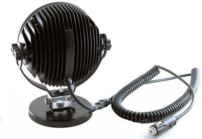 LED Light Bar - 6 X 10 WATT LEDs - Aluminum Housing - 9-48 VDC - 5400 Lumens - Adjustable Magnetic (-Black-Spot)