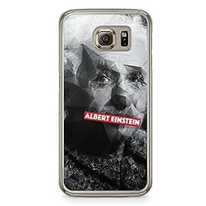Albert Einstein Samsung Galaxy S6 Transparent Edge Case - Heroes Collection