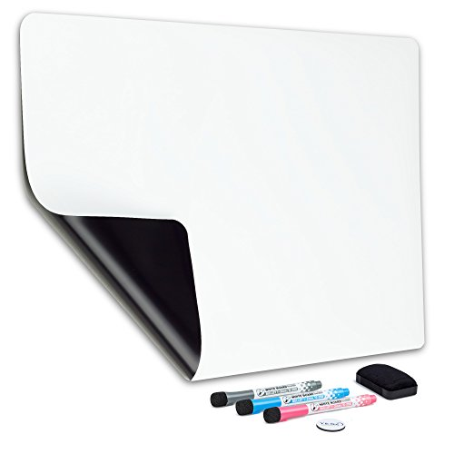 (Magnetic Dry Erase Whiteboard Sheet for Refrigerator 19x13