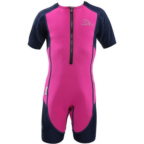 Aqua Sphere Stingray Short Sleeve Wet Suit, Pink/Blue, Size - Ray Suits