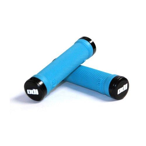 ODI Ruffian MTB Lock-On Grips, 130mm, Aqua, with Bonus Pack