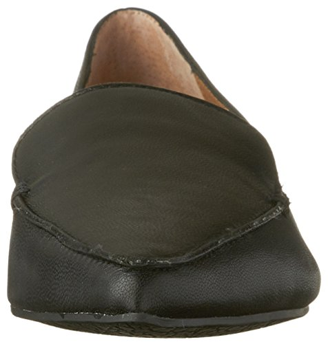 Leather Steve Women's Madden Black Feather Flat Loafer qYfqv