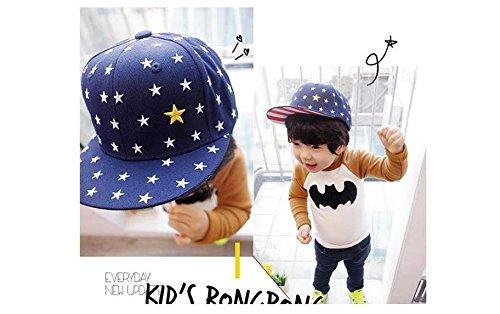 GuiXinWeiHeng 2pcs Children pentagonal flat-brimmed baseball cap child parent-child cap(color random)