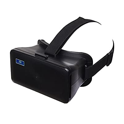 NJ-8888 3D VR Virtual Reality Video Glasses for 6.3 inch Smartphone Samsung Galaxy A9 - Black