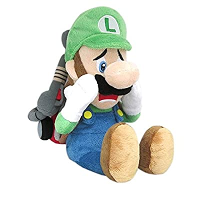 "Little Buddy Super Mario Series Luigi's Mansion 10"" Scared Luigi with Strobulb Plush"