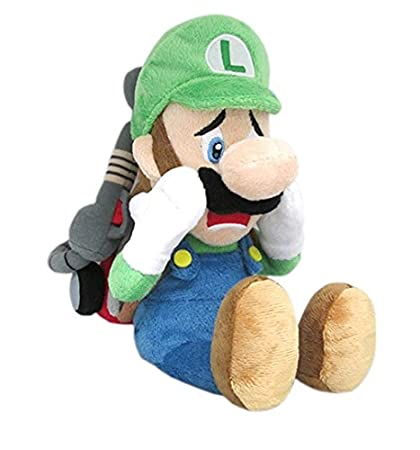 Little Buddy Super Mario Series Luigi S Mansion 10 Scared Luigi With Strobulb Plush